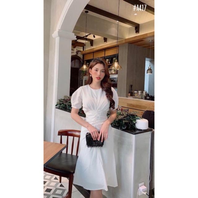 Đầm suông 🌷Đầm Suông tay phồng 🌷FREESHIP 🌷Nhập MADEBY20 giảm 20k đơn trên 300k