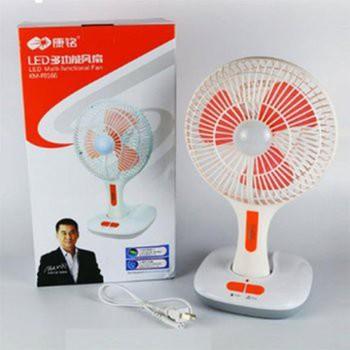 Quạt sạc tích điện kèm đèn LED KM-F0166 - 3525146 , 803742576 , 322_803742576 , 195000 , Quat-sac-tich-dien-kem-den-LED-KM-F0166-322_803742576 , shopee.vn , Quạt sạc tích điện kèm đèn LED KM-F0166
