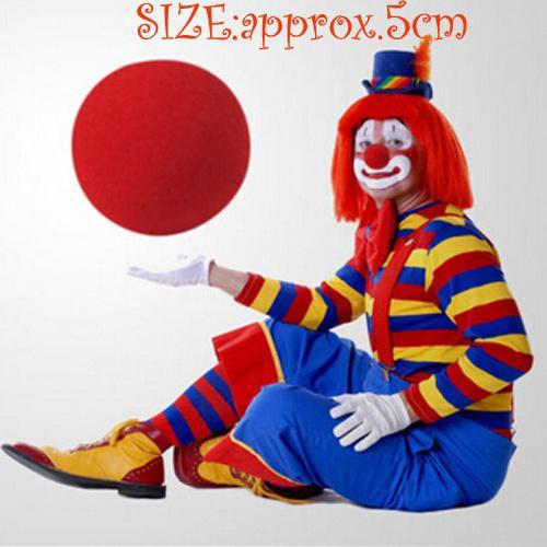 5pcs Wholesale Red Sponge Ball Clown Magic Nose Halloween Fun Costume Party Favors Halloween Cosplay