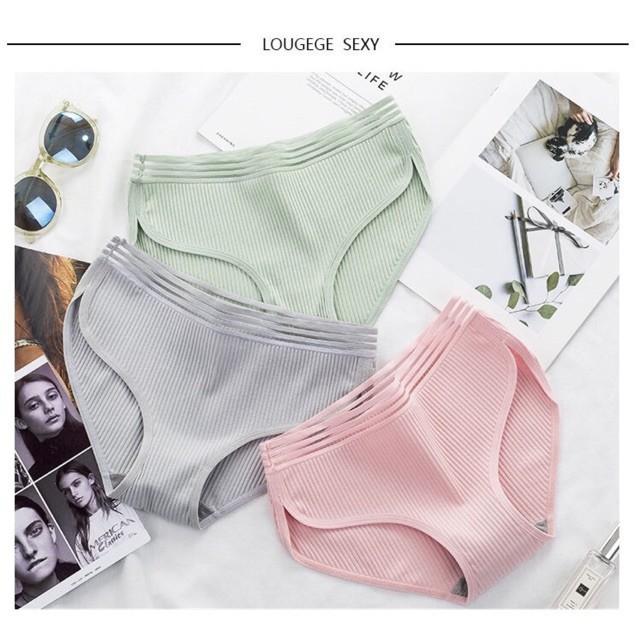 Quần lót cotton mềm mại thông thoáng ôm mông tôn dáng- màu sắc pastel nữ tính