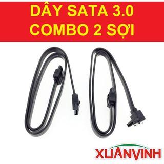 Dây SATA Máy Tính 3.0 (6Gb/s) Hàng Theo Main - COMBO 2 Sợi (NEW 100%, CHÍNH HÃNG)