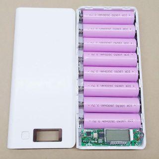 Box sạc dự phòng 8 cell hiển thị led 5V2A( đã bao gồm 8 cell pin dung lượng cao)