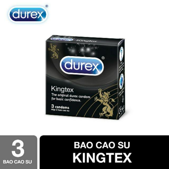 Bao cao su Durex Kingtex - Hộp 3 chiếc