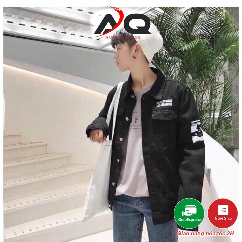 Áo Khoác Jean Nam Thêu Rin Nữ Hàng VNXK Cao Cấp FREESHIP Khoác Jeans Thêu AKJ14 Unisex- QSTORE