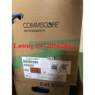 Cáp mạng cat6 UTP Cable 4-Pair 23 AWG Solid CM 305m Blue 1427254-6 thumbnail