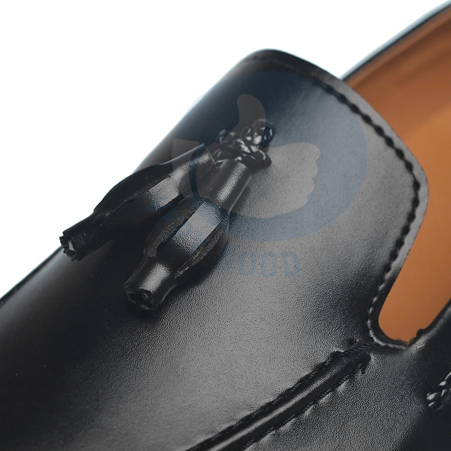 Giày lười nam verygood dây chuông xích đen MS16