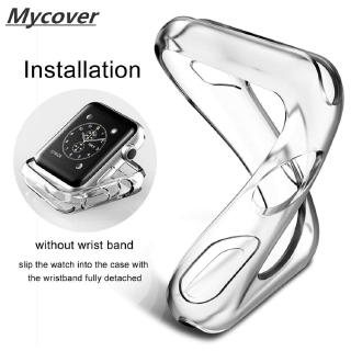 Ốp Bằng Silicon Trong Suốt Bảo Vệ Cho Đồng Hồ Thông Minh Apple Watch 40mm 44mm 42mm 38mm thumbnail