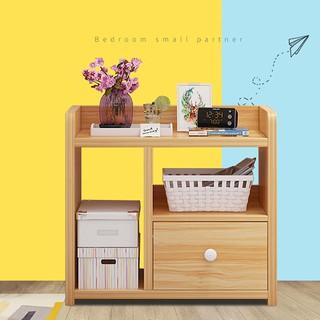 Kệ tủ gỗ đầu giường 3 tầng 1 ngăn kéo cao 40cm