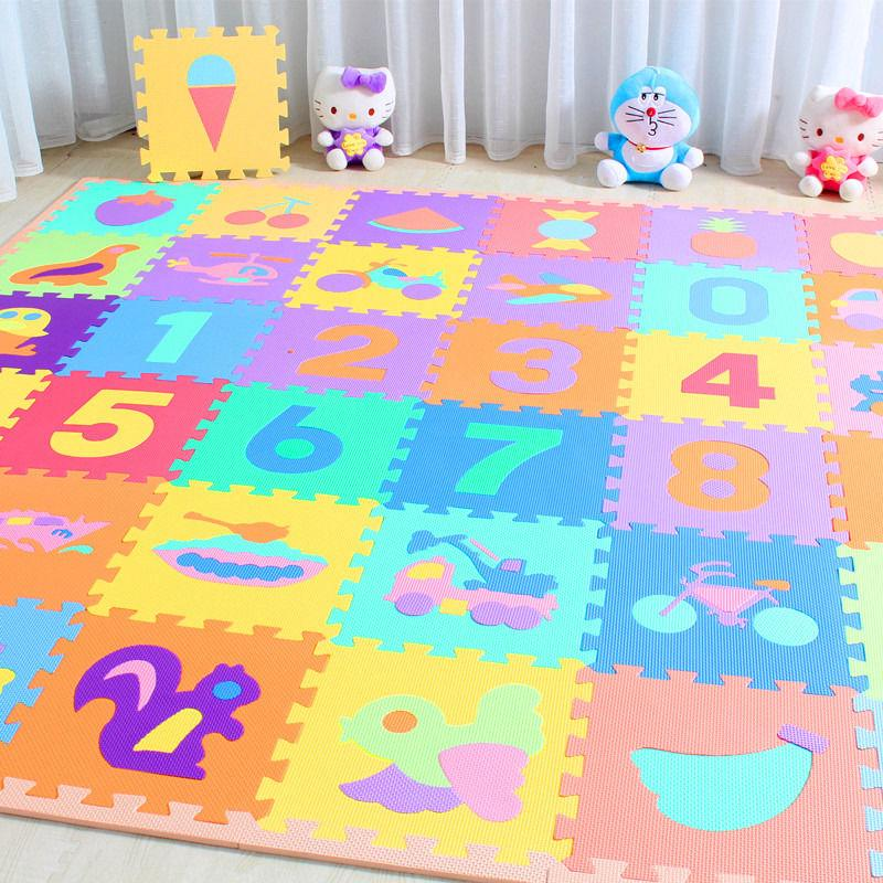 10pcs Baby Soft EVA Foam Play Mat Alphabet Numbers Puzzle DIY Toy