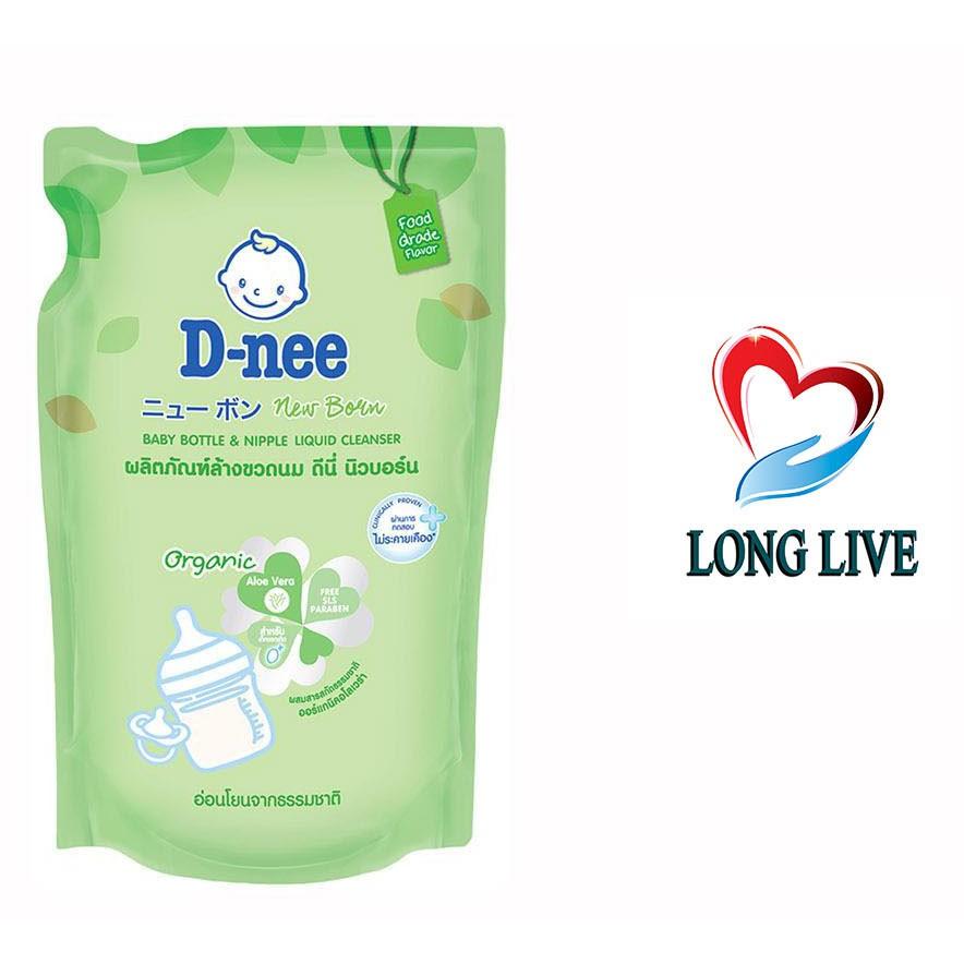 Túi nước rửa bình sữa và rau củ quả Dnee x 600ml