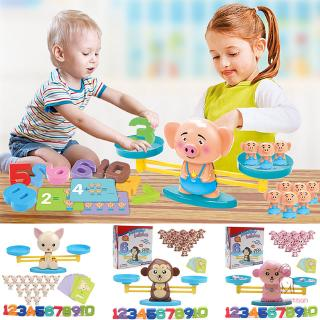 Monkey/Pig/Dog Toy Balance Cool Math Table Game Fun Educational Gift for Girls Boys