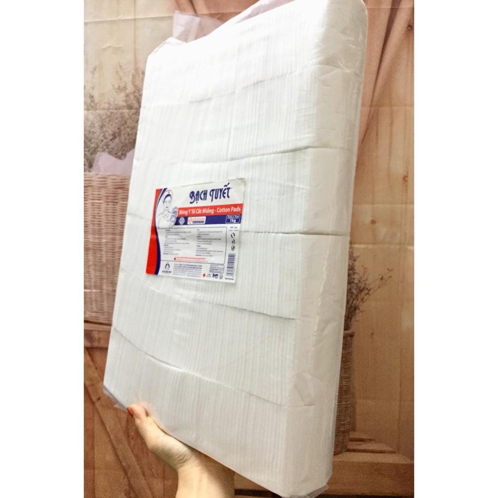 Bông Y Tế Bạch Tuyết Cắt Miếng 1kg 7x7 - Vệ Sinh cho bé