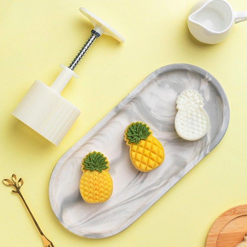 Khuôn bánh dứa, khuôn quả dứa nhấn lò xo 2 mặt ( tặng công thức kinh doanh)  | Shopee Việt Nam