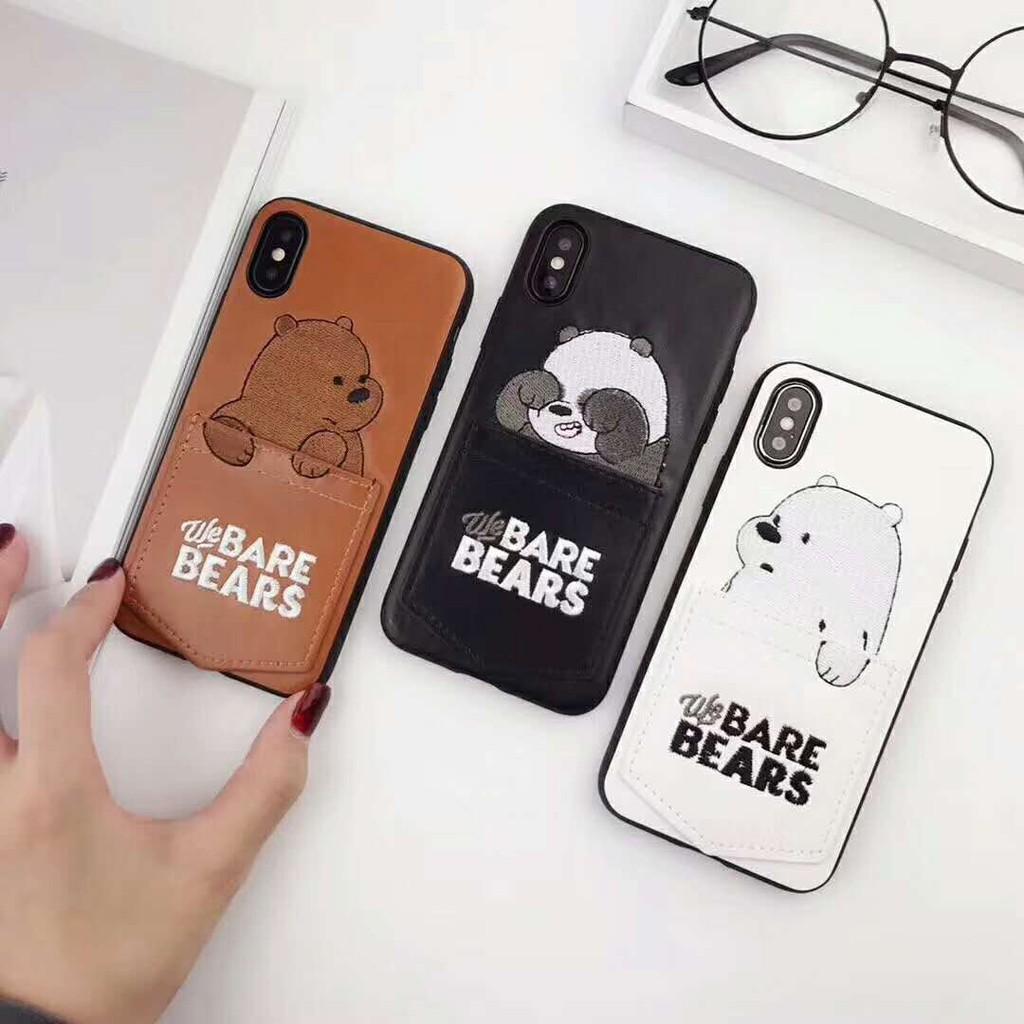 Ốp điện thoại họa tiết các chú gấu trong We bare bears độc đáo cho iPhoneXsMax Xr Xs i7 ix i8 i6s Plus