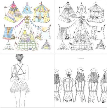 Quyển tranh tô màu dành cho bạn yêu thời trang