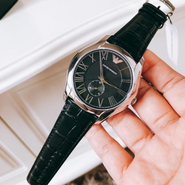 แท้💯% EMPORIO ARMANI Classic Black Dial Men's Watch AR1703