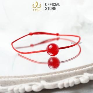 QMJ Vòng tay chỉ đỏ Đá thiên nhiên may mắn, đủ màu đá phong thủy, lắc tay đôi cho cả nam và nữ Q412 thumbnail