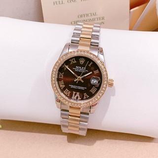 Đồng hồ nữ Rolex viền đá, mặt số la mã đính đá, hàng full box, thẻ bảo hành 12 tháng