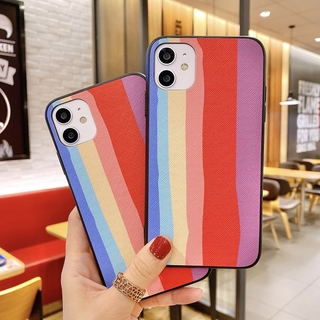 {RAINBOW Case} Realme C17 C15 C12 C11 X50 Pro 7i 7 6i 6 5i 5 5S 3 Narzo V5 X3 Superzoom Casing Fashion Colorful Soft TPU Phone Cover