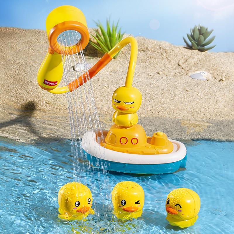 [Sale]Bộ đồ chơi vịt cướp biển phun nước cực vui cho bé