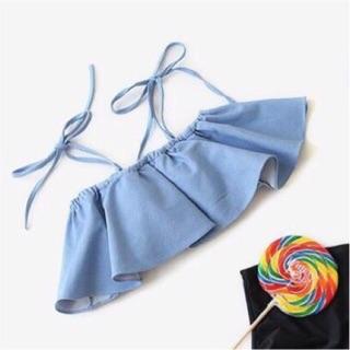 (Lẻ áo) áo bikini đồ bơi quây xanh thumbnail