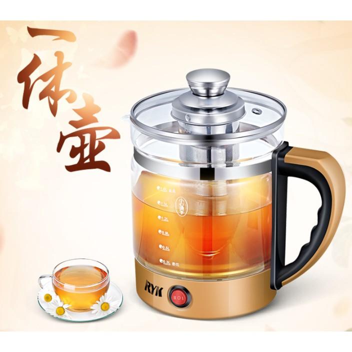 Ấm pha trà điện siêu tốc thủy tinh cao cấp RYK882 1.8L (KHÔNG KÈM LÕI LỌC