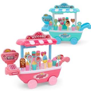 Bộ đồ chơi xe đẩy bán kem cho bé