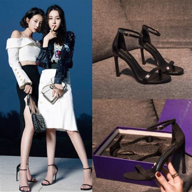 [Giày giá sỉ] Giày cao gót I Sandal cao gót quai mảnh Ngọc Trinh 8p dễ đi đơn giản chanh xả