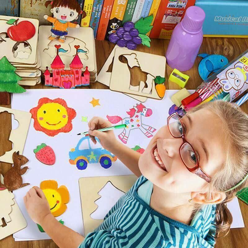 Bộ khuôn gỗ tập vẽ và tô màu cho bé yêu - 9931257 , 1204474674 , 322_1204474674 , 120000 , Bo-khuon-go-tap-ve-va-to-mau-cho-be-yeu-322_1204474674 , shopee.vn , Bộ khuôn gỗ tập vẽ và tô màu cho bé yêu