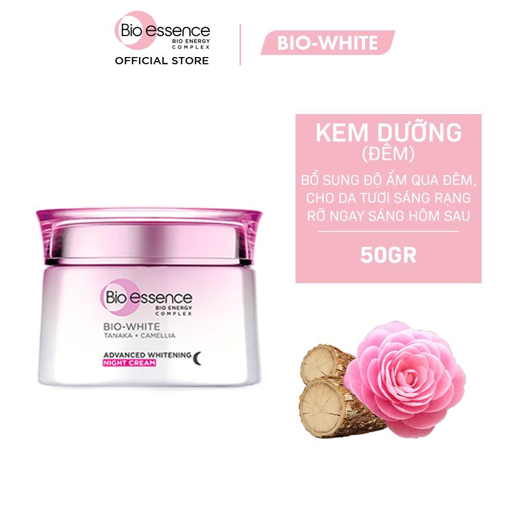 Kem dưỡng trắng chuyên sâu ban đêm Bio-Essence Bio-White chiết xuất Tanaka & Camellia 50g