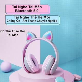 [Bản Cao Cấp]Tai Nghe Tai Mèo HEADPHONE CATEAR Bluetooth 5.0 F07 Thế Hệ Thứ 3 – Tai Mèo Có Thể Tháo Rời – Hot Style 2020