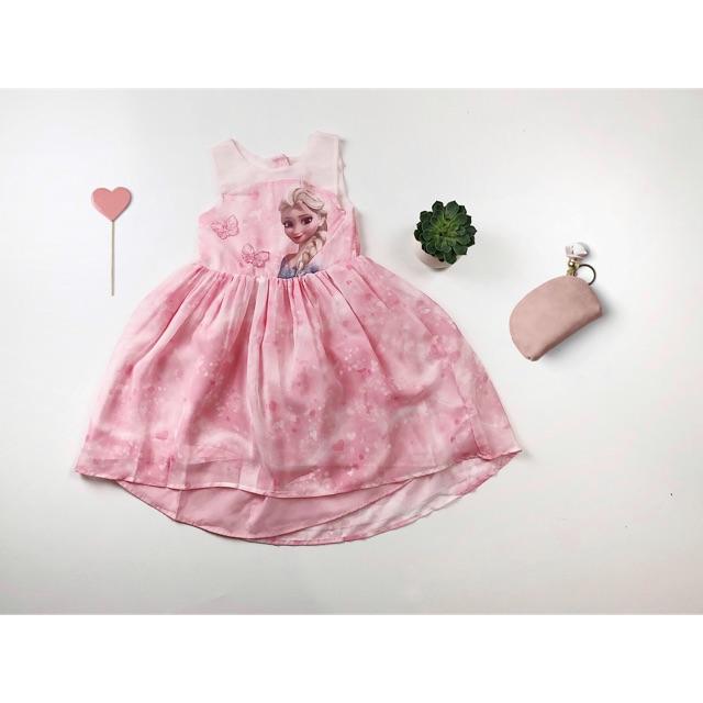 Váy Elsa cho bé gái [HM Authentic] - Ảnh thật
