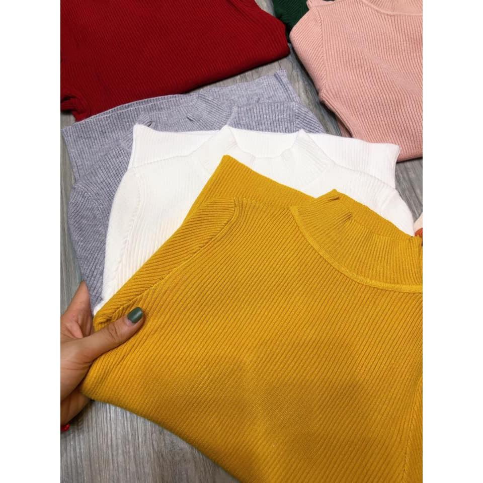 Áo len tăm cổ 3 phân (kèm ảnh thật, video)