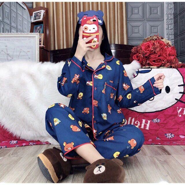 Bộ pijama chất thô kate giá rẻ