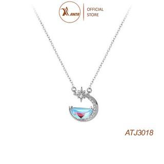 Dây chuyền bạc 925 mặt hình mặt trăng thay đổi màu sắc dành cho nữ ANTA Jewelry - ATJ3018