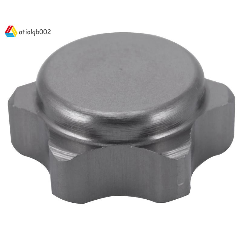 17mm Wheel Hub Hex Nut Fine Anti-dust Cover for 1/8 RC Car buggy truck upgraded hop-up Parts HSP Axial HPI Traxxas Himoto-color:Sier