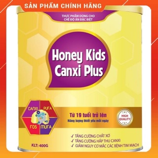 Sữa bột HONEY KIDS CANXI PLUS 900g giúp tăng chiều cao, ngăn ngừa loãng xương cho trên 19 tuổi