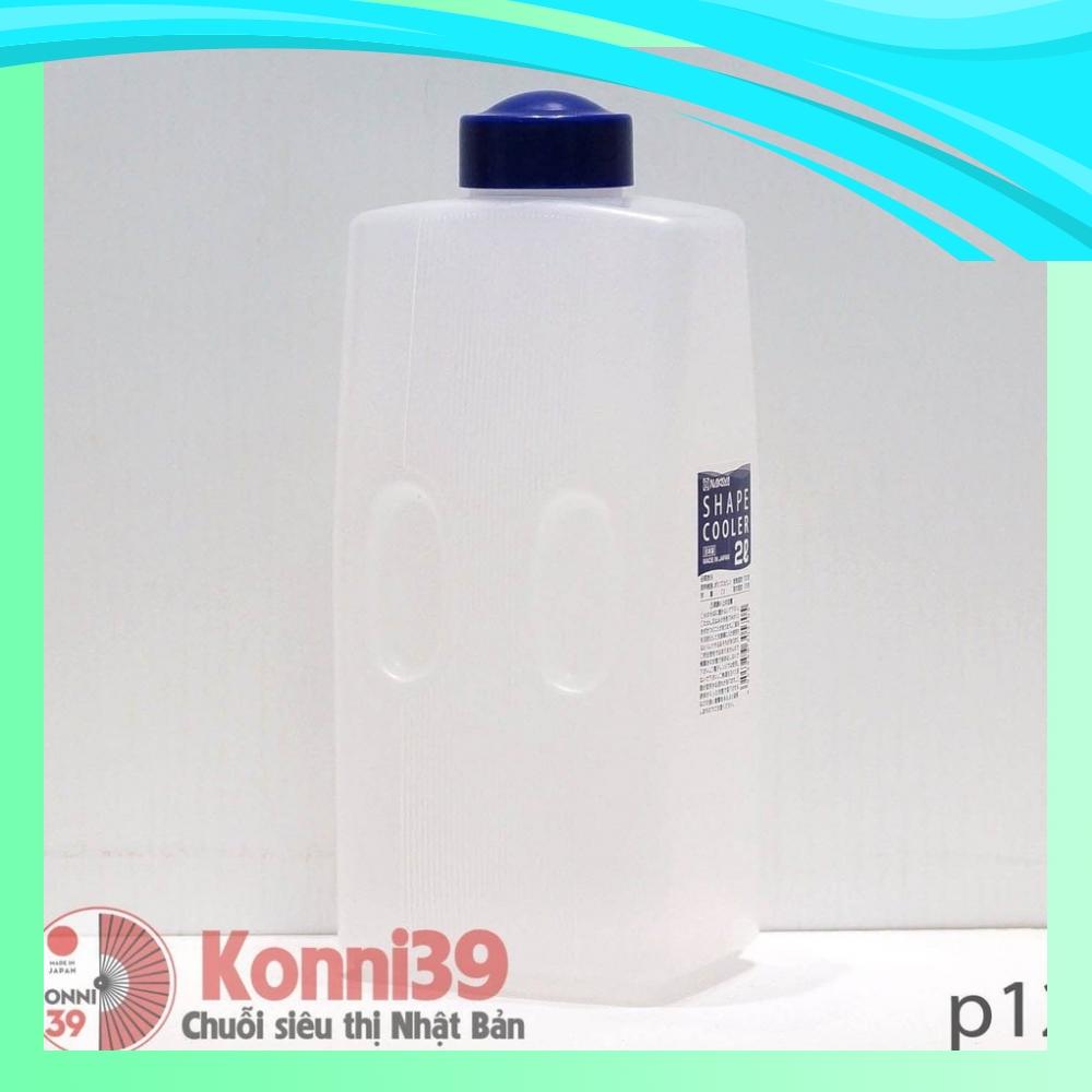 BÌNH NƯỚC 2 LÍT NAKAYA - HÀNG NỘI ĐỊA NHẬT ( Dạng nắp vặn) , có thể dùng đựng nước trữ ở ngăn mát tủ lạnh, mang đi làm,.