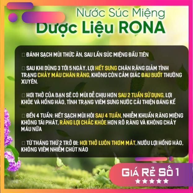 Nước súc miệng dược liệu Rona