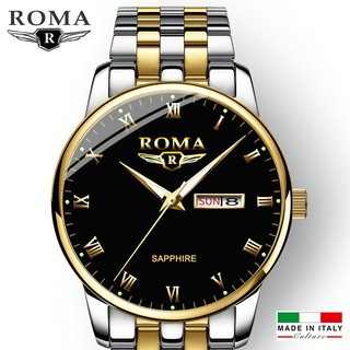 [Mã FASHIONRNK giảm 10K đơn 50K] Đồng hồ Nam ROMA ITALIA Kính Tráng SAPPHIRE, Dây Đúc Đặc, Khóa Bướm, Siêu Chống Nước thumbnail