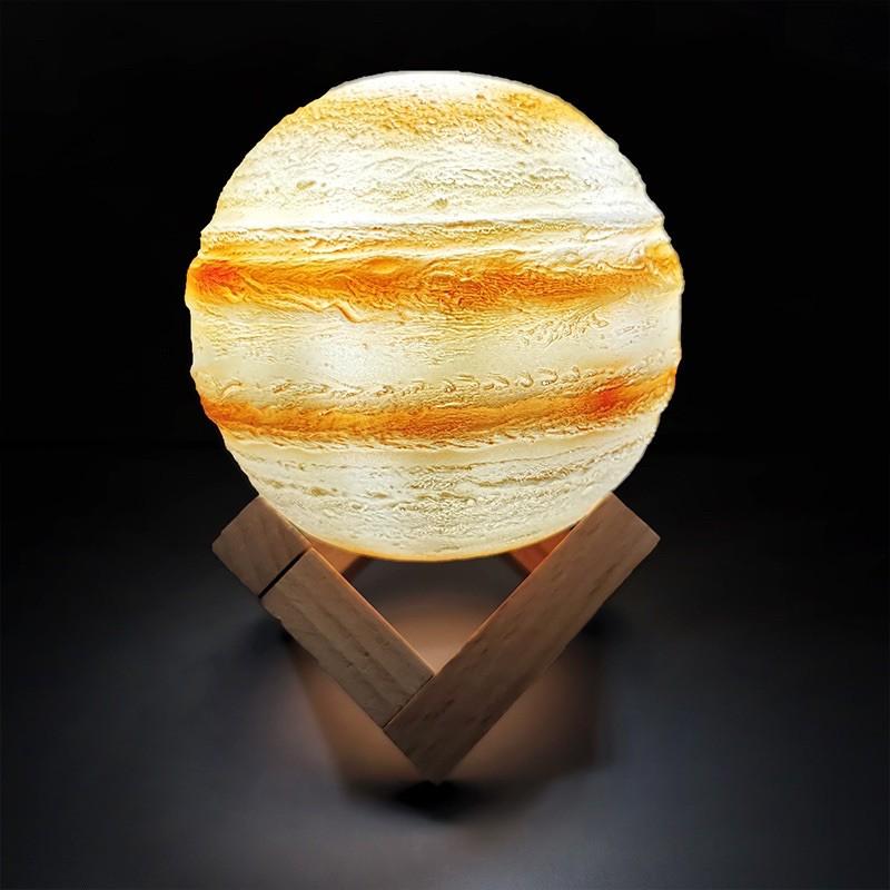 Bảng giá Đèn Ngủ Sao Mộc 3D 15Cm 16 Màu Điều Khiển