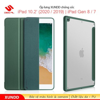 ☃Ốp lưng XUNDD iPad 10.2′ (2020 / 2019) / iPad Gen 8 / 7, Chống trầy, Chống sốc, Kiểu bao da, Mặt lưng trong