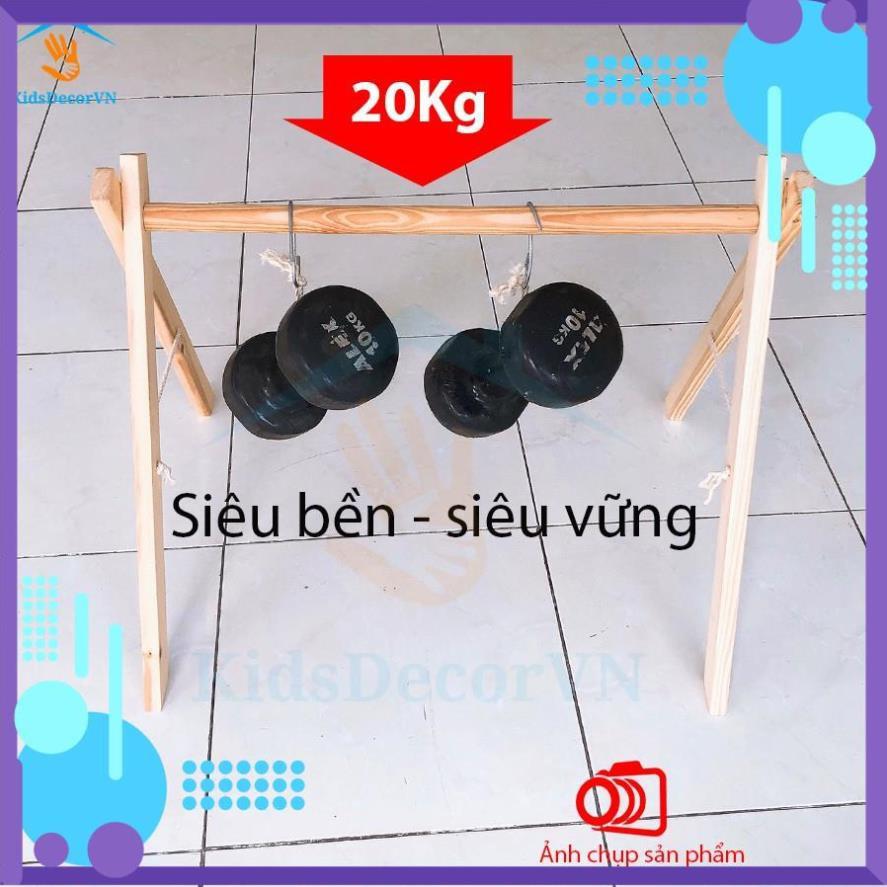 [FREESHIP] [Mua 1 tặng 1]Kệ chữ A baby gym play Montessori, đồ chơi giáo dục trẻ sơ sinh, khung gỗ chữ A cho bé