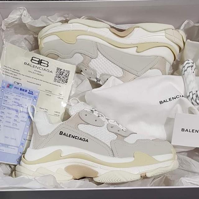 Giày balenciaga trắng bản cao cấp  ( full box + free ship )