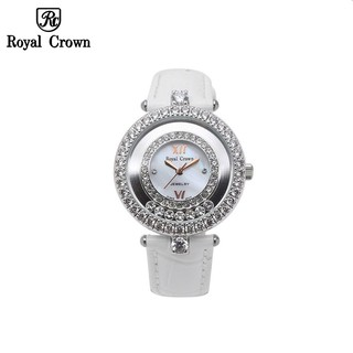 Đồng hồ nữ chính hãng Royal Crown 3628ST dây da trắng thumbnail