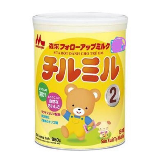 Sữa Morinaga số 2 850g  tách đai không quà