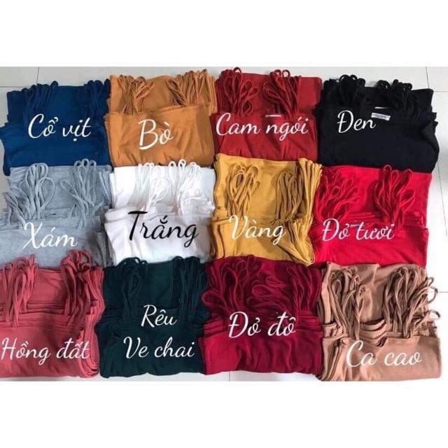 Áo 2 dây trơn 12 màu chất vải dày dặn cực đẹp ( Cún Shop)