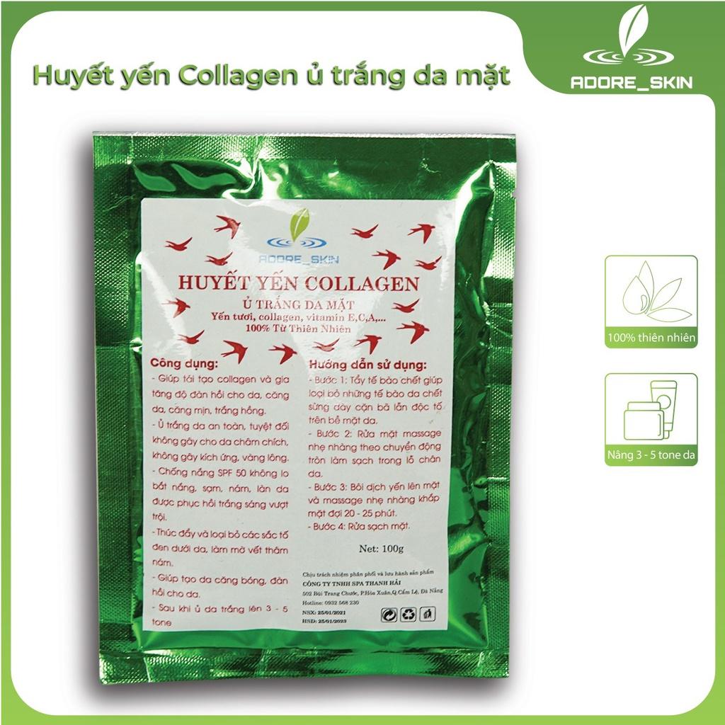 Huyết yến collagen ủ trắng da mặt Adore-skin 100% từ thiên nhiên