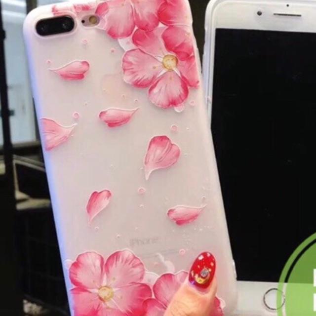 ỐP HOA ĐÀO 2018 cho iPhone 5 5s 6 6s 6plus 7 7plus 8 8plus X
