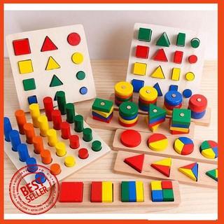[RẺ NHẤT] Bộ giáo cụ hình học Montessori hộp 8 món